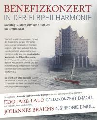 ELBPHILHARMONIE * Musikalische Matinee CAMERATA INSTRUMENTALE BREMEN * BENEFIZKONZERT