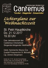 LICHTERGLANZ ZUR WEIHNACHTSZEIT * CANTEMUS KINDERCHOR HAMBURG * KAMMERCHOR MUSICA VIVA