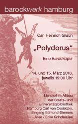 """BAROCKOPER  """"POLYDORUS"""" von Carl Heinrich Graun mit dem barockwerk hamburg"""