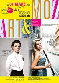 """HAMBURGER SERENADENKONZERTE * """"Quasi una fantasia"""" * KATERYNA TITOVA, Klavier & SABINE GROFMEIER – Klarinette und Moderation"""
